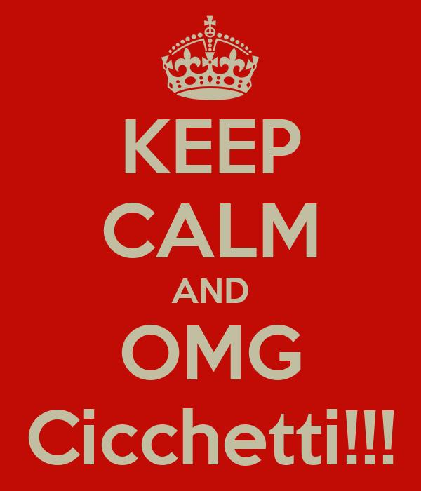KEEP CALM AND OMG Cicchetti!!!