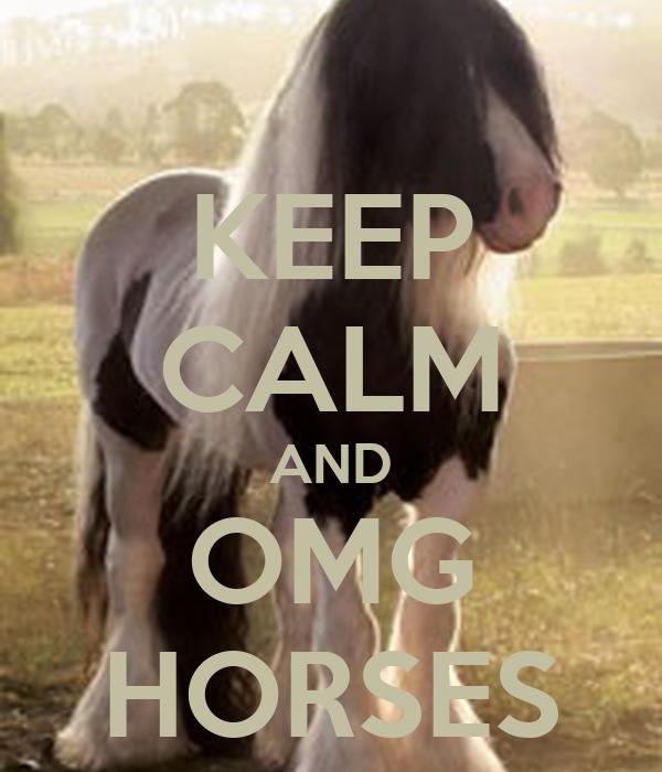 KEEP CALM AND OMG HORSES