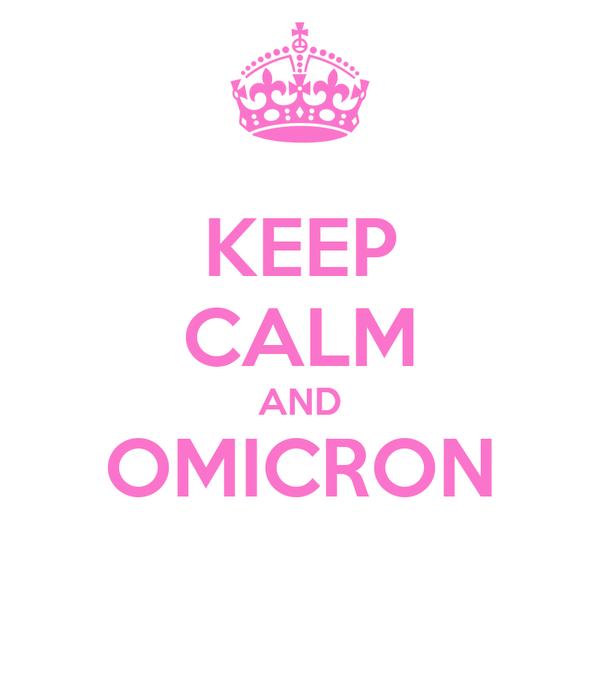 KEEP CALM AND OMICRON