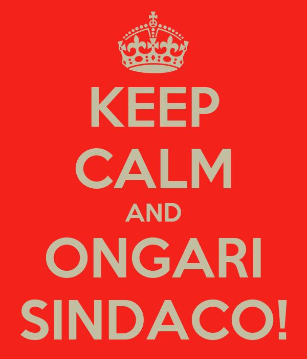 KEEP CALM AND ONGARI SINDACO!