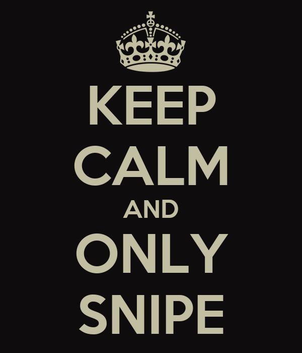 KEEP CALM AND ONLY SNIPE