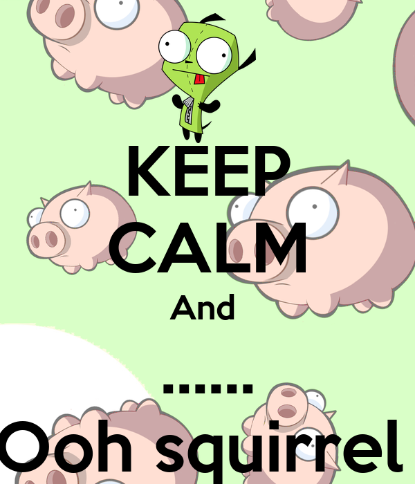 KEEP CALM And  ...... Ooh squirrel