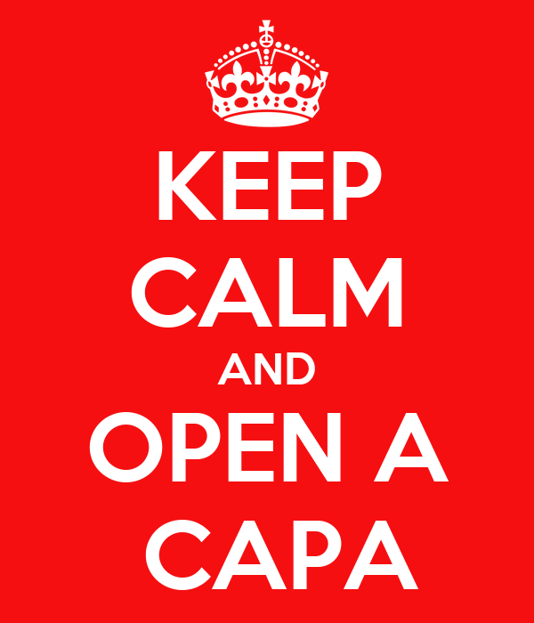 KEEP CALM AND OPEN A  CAPA