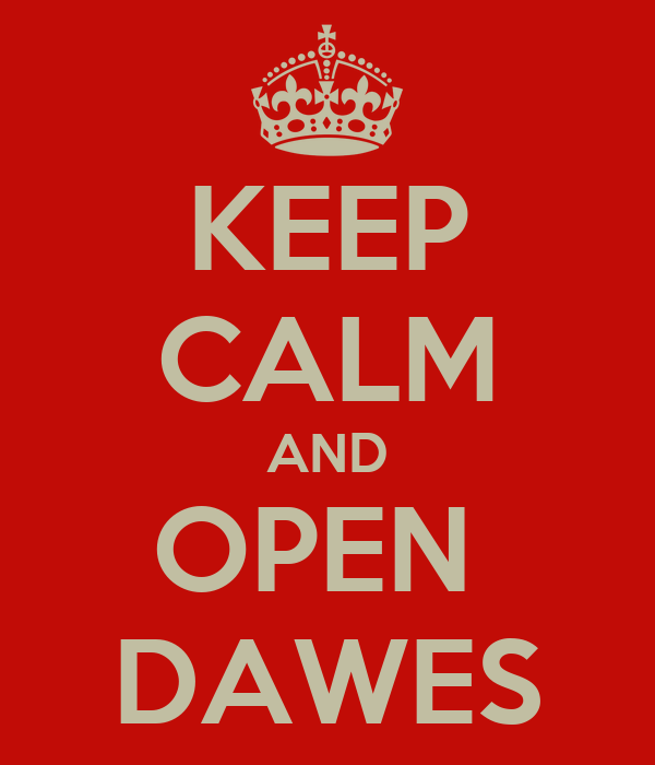 KEEP CALM AND OPEN  DAWES