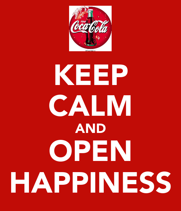 KEEP CALM AND OPEN HAPPINESS