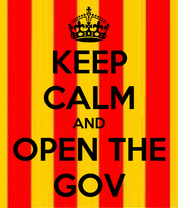 KEEP CALM AND OPEN THE GOV