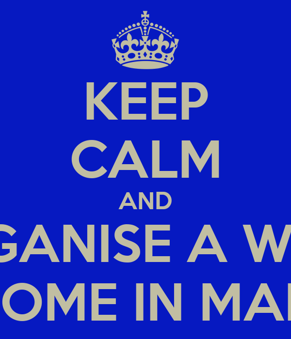 KEEP CALM AND ORGANISE A WEEK IN ROME IN MARCH