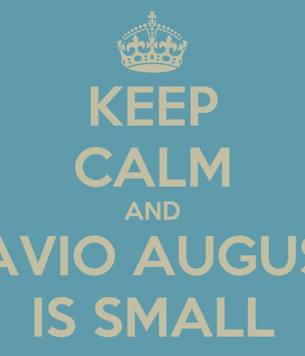 KEEP CALM AND OTAVIO AUGUSTO IS SMALL