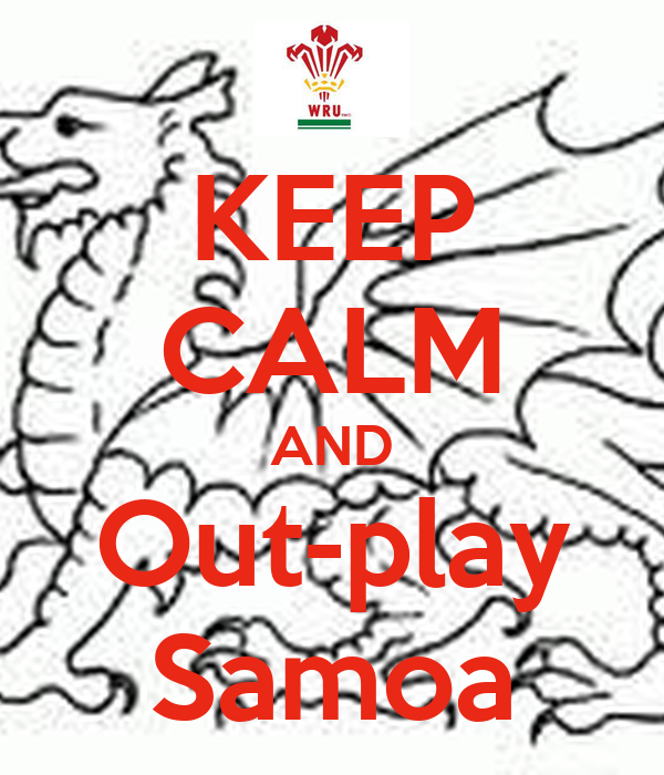 KEEP CALM AND Out-play Samoa