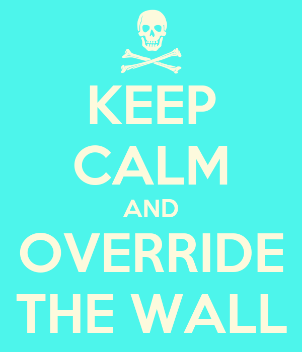 KEEP CALM AND OVERRIDE THE WALL