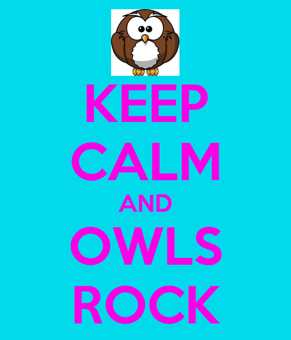 KEEP CALM AND OWLS ROCK