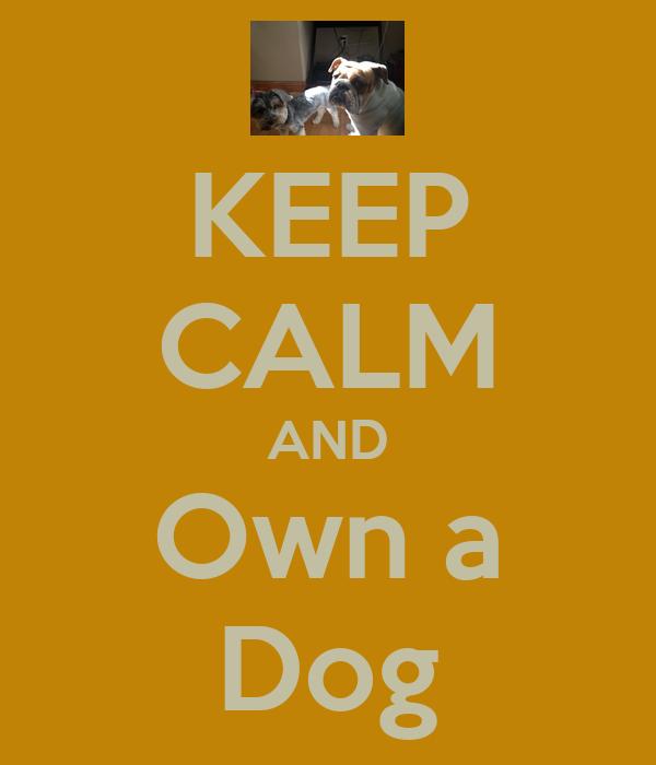 KEEP CALM AND Own a Dog