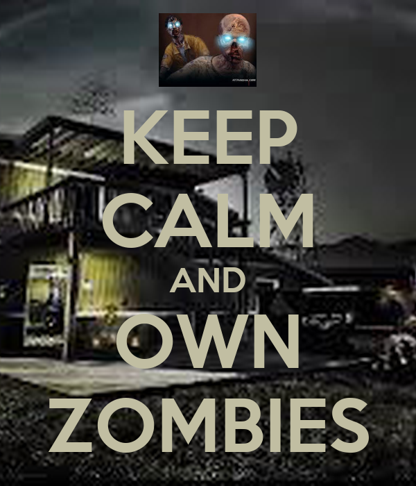 KEEP CALM AND OWN ZOMBIES