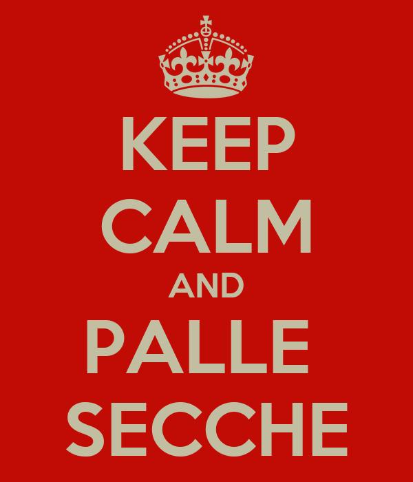 KEEP CALM AND PALLE  SECCHE