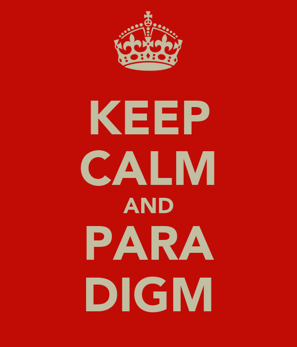 KEEP CALM AND PARA DIGM