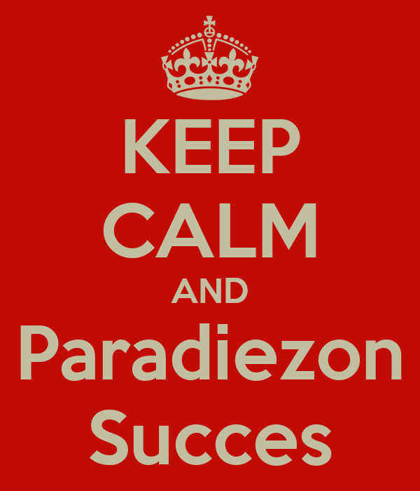 KEEP CALM AND Paradiezon Succes