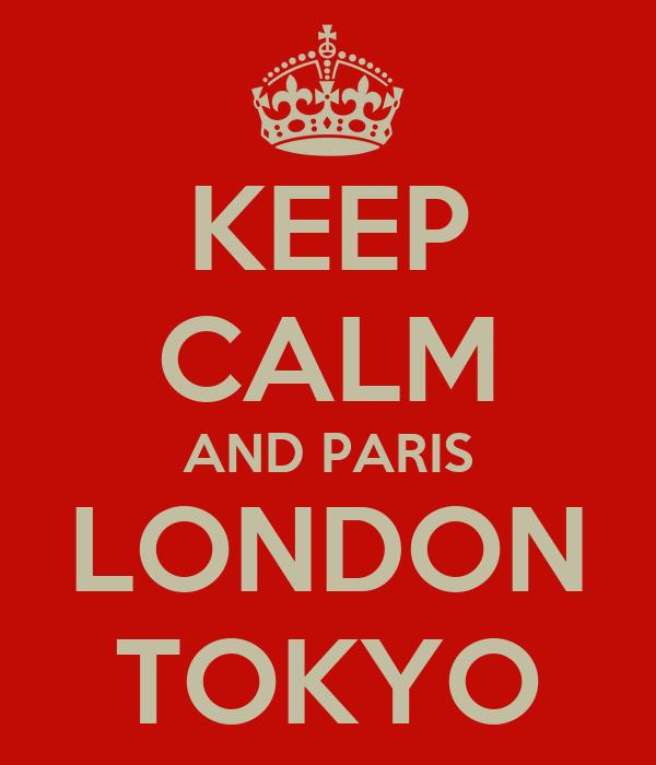 KEEP CALM AND PARIS LONDON TOKYO