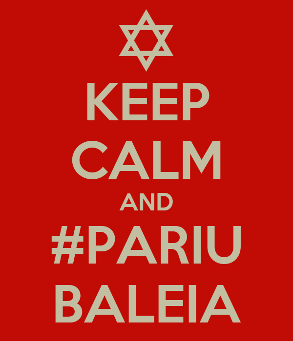 KEEP CALM AND #PARIU BALEIA