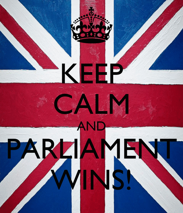 KEEP CALM AND PARLIAMENT WINS!