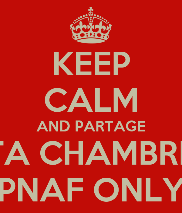 KEEP CALM AND PARTAGE TA CHAMBRE PNAF ONLY
