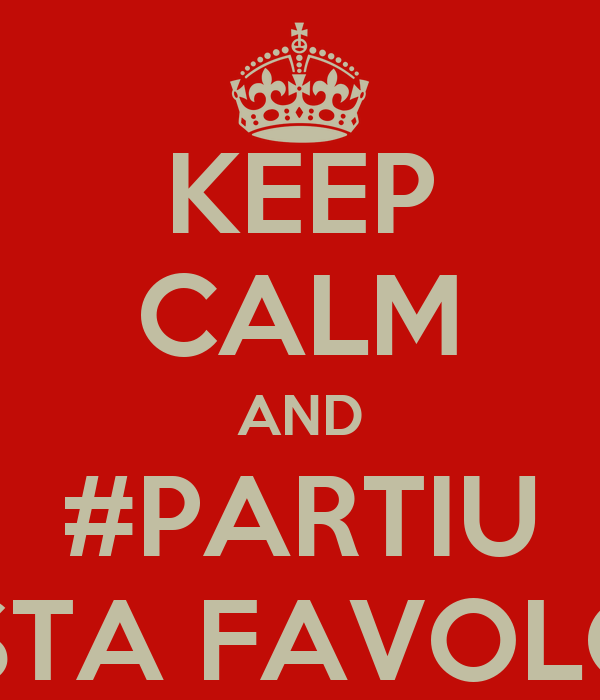 KEEP CALM AND #PARTIU COSTA FAVOLOSA