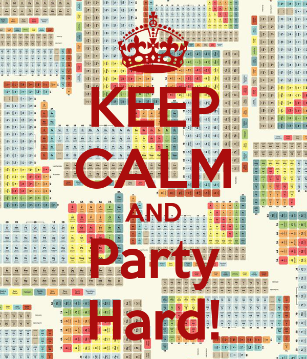 KEEP CALM AND Party Hard!