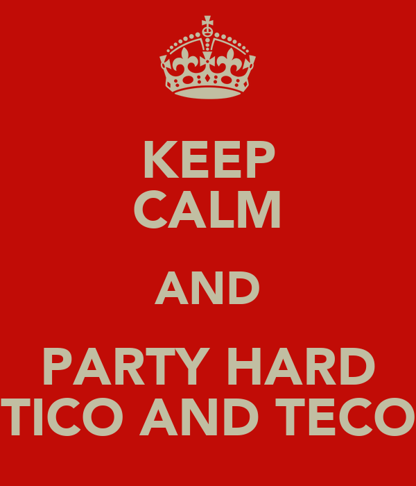 KEEP CALM AND PARTY HARD TICO AND TECO