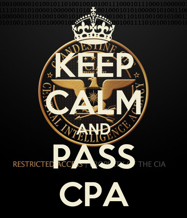 KEEP CALM AND PASS CPA