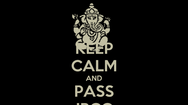 KEEP CALM AND PASS IPCC