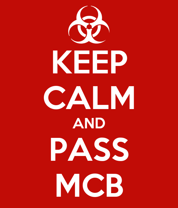 KEEP CALM AND PASS MCB