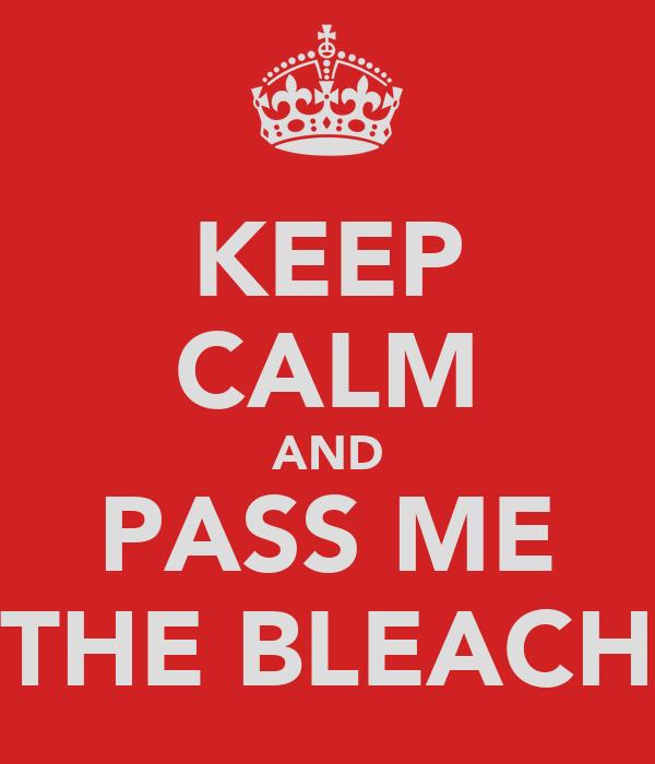 KEEP CALM AND PASS ME THE BLEACH