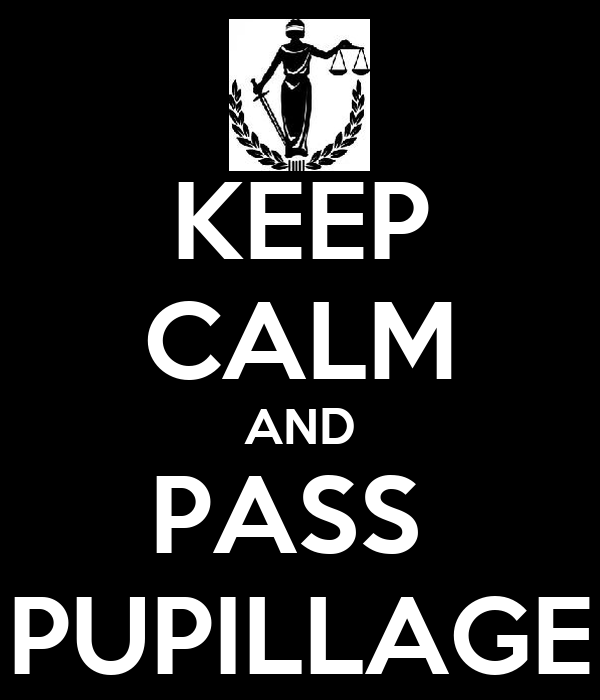 KEEP CALM AND PASS  PUPILLAGE