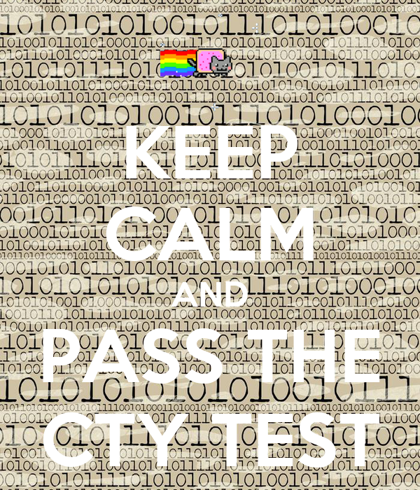 KEEP CALM AND PASS THE CTY TEST