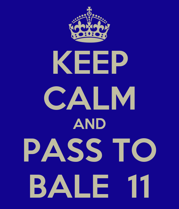 KEEP CALM AND PASS TO BALE  11