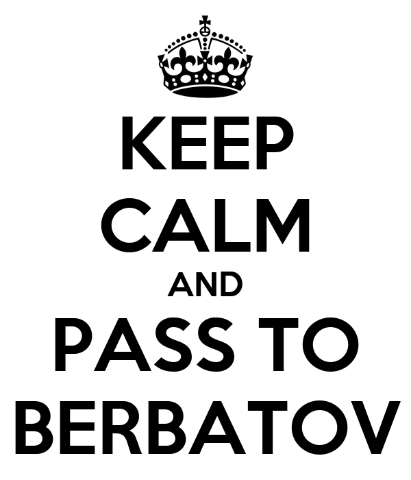 KEEP CALM AND PASS TO BERBATOV