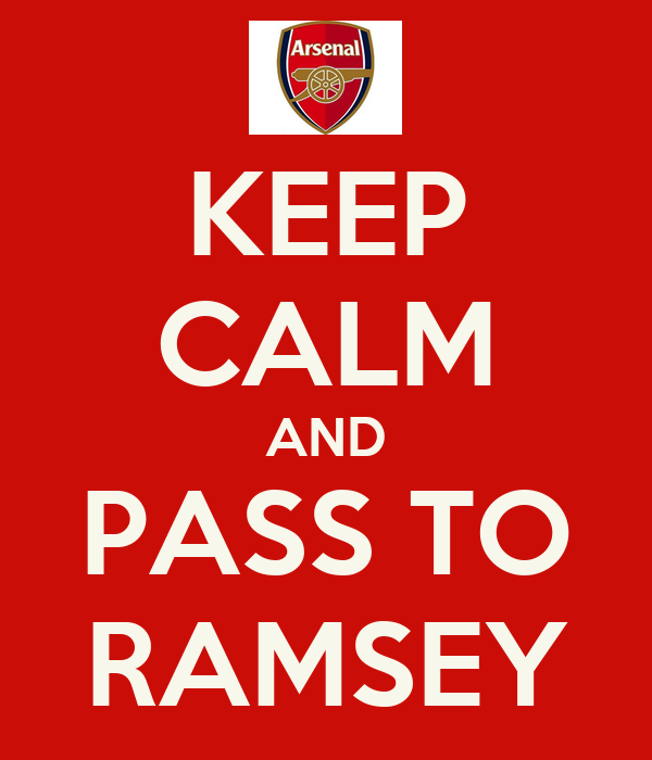 KEEP CALM AND PASS TO RAMSEY
