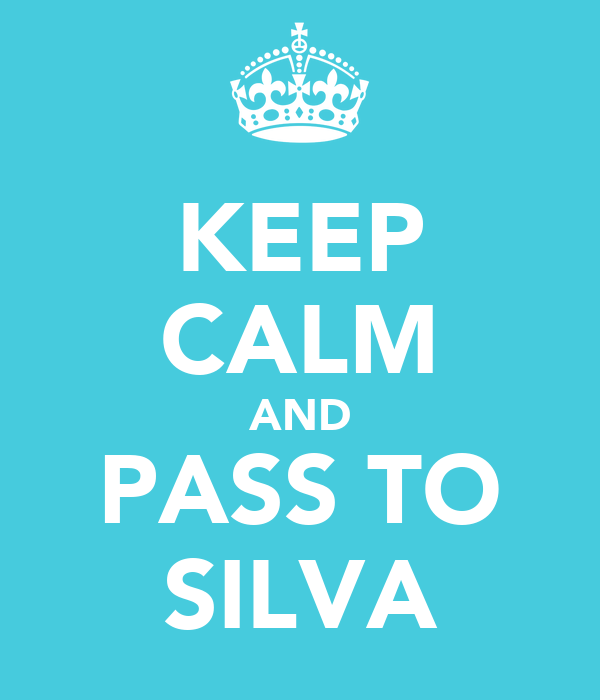 KEEP CALM AND PASS TO SILVA