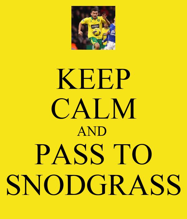 KEEP CALM AND  PASS TO SNODGRASS