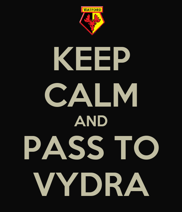 KEEP CALM AND PASS TO VYDRA