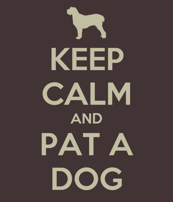 KEEP CALM AND PAT A DOG
