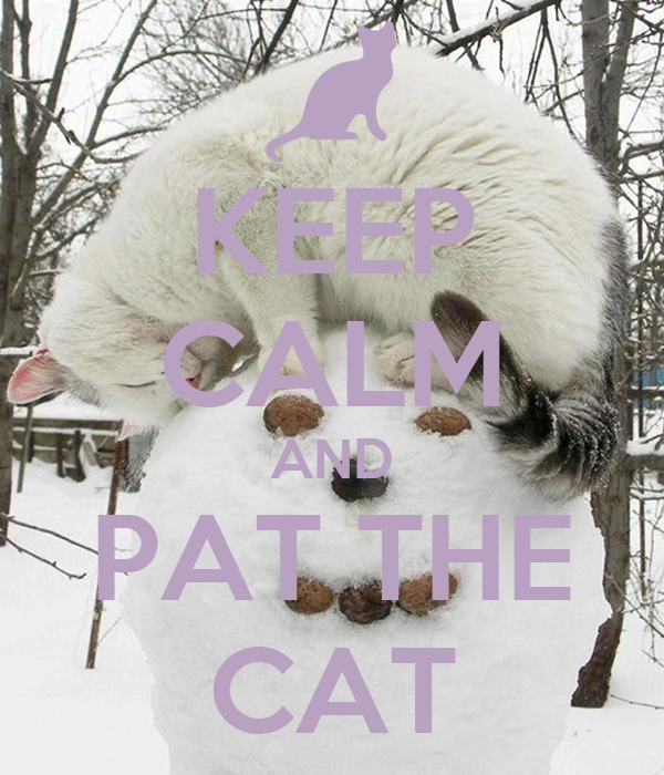 KEEP CALM AND PAT THE CAT