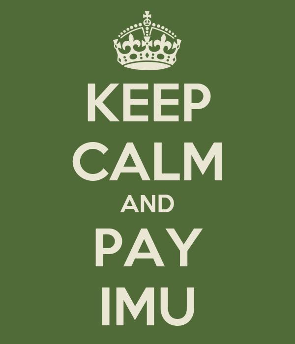 KEEP CALM AND PAY IMU