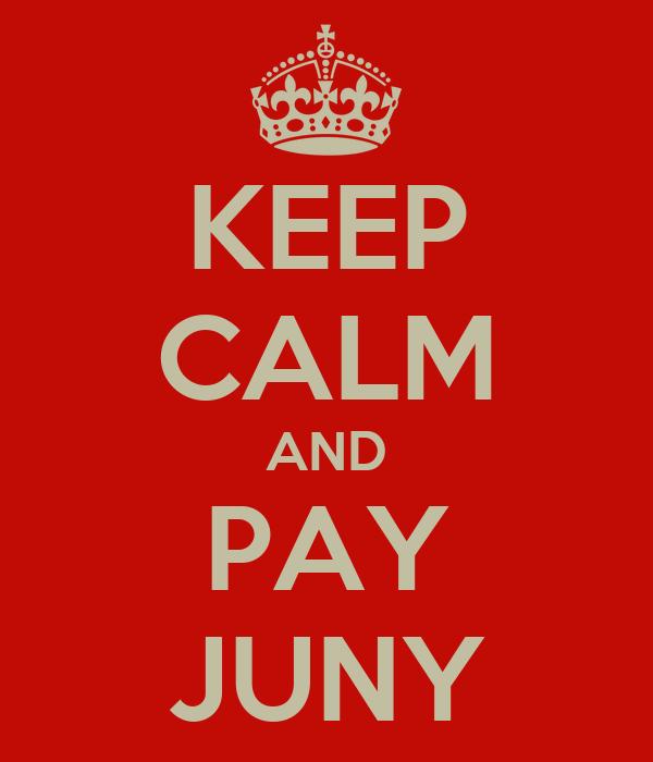KEEP CALM AND PAY JUNY