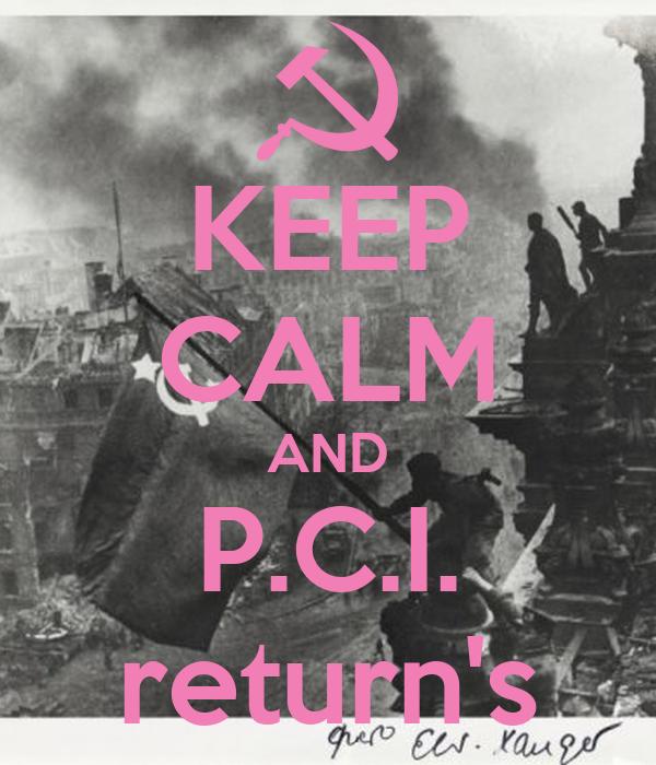 KEEP CALM AND P.C.I. return's