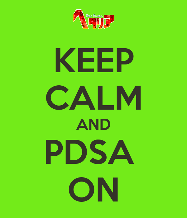 KEEP CALM AND PDSA  ON