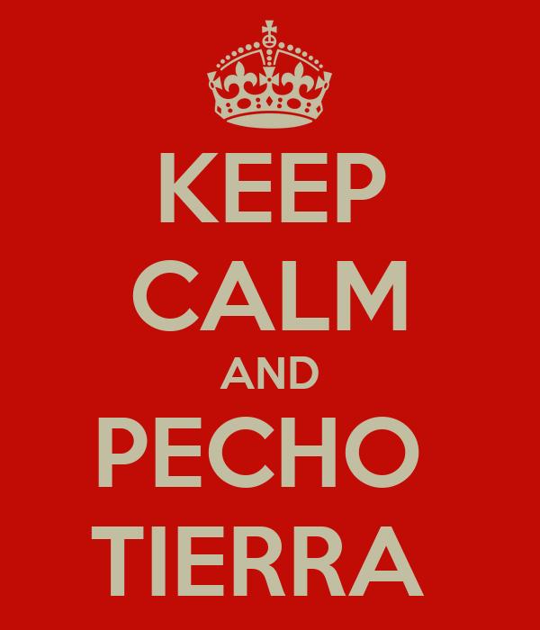 KEEP CALM AND PECHO  TIERRA