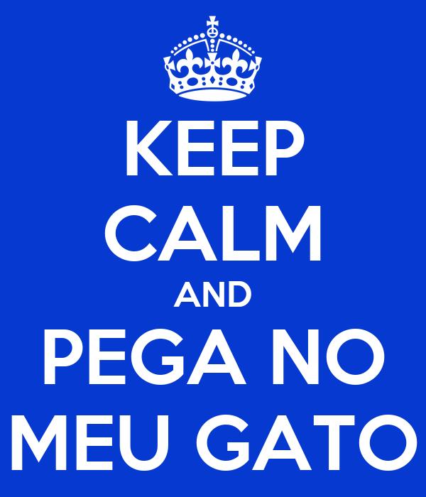 KEEP CALM AND PEGA NO MEU GATO