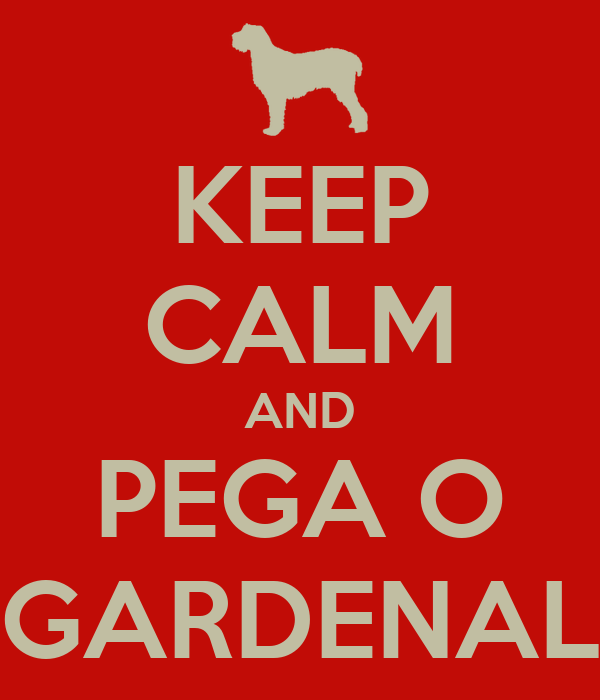 KEEP CALM AND PEGA O GARDENAL