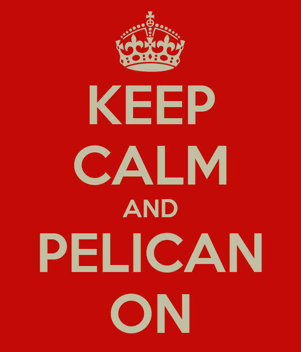 KEEP CALM AND PELICAN ON