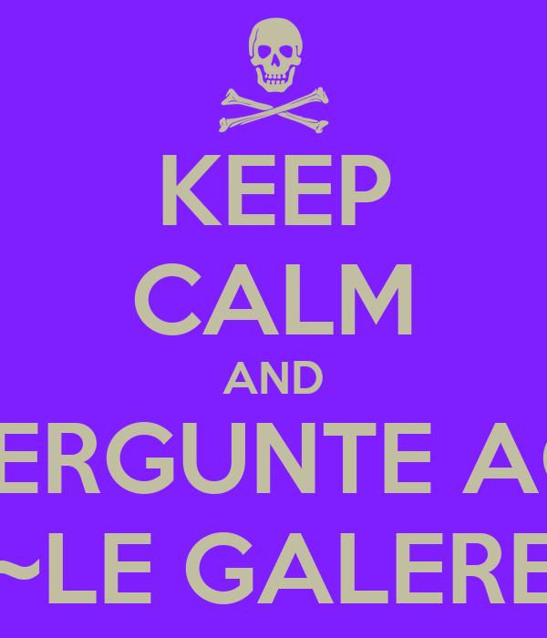 KEEP CALM AND PERGUNTE AO ~LE GALERE